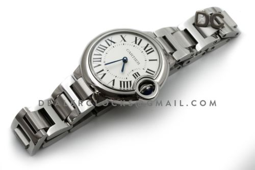 Ballon Bleu de Cartier 33mm White Dial in Steel
