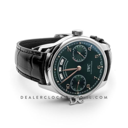 Portugieser Annual Calender IW503510 Green Dial in Steel