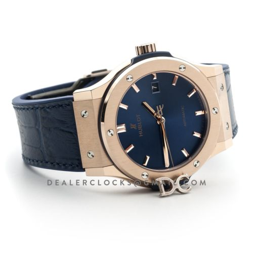 Classic Fusion Automatic 42mm Blue Dial in Rose Gold