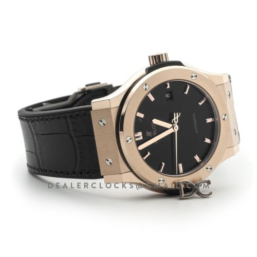 Classic Fusion Automatic 42mm Black Dial in Rose Gold