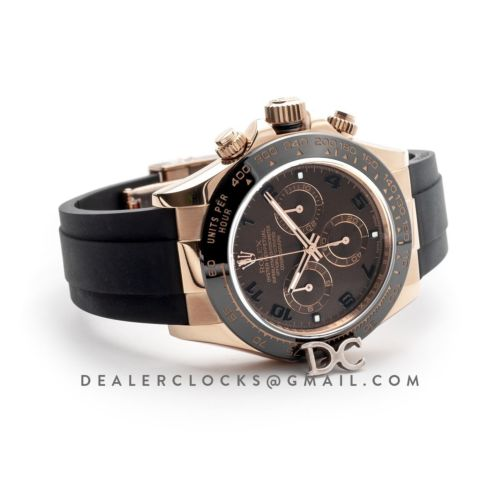 Daytona 116515LN Chocolate Dial in Everose Gold