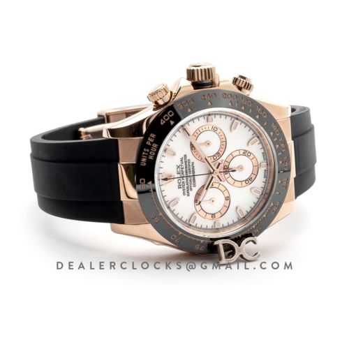 Daytona 116515LN Pink/White Dial in Everose Gold