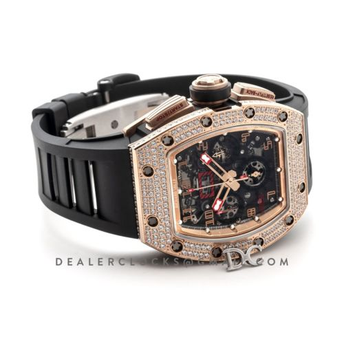 RM 011 Automatic Flyback Chronograph Rose Gold with Set Diamonds Limited Edition