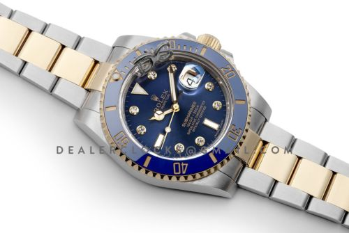 Submariner 116613LN Blue Ceramic With Diamond Markers