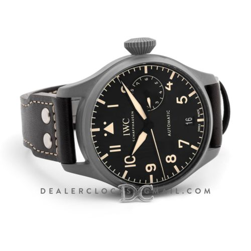 Big Pilot's Watch Heritage IW5010 Black Dial in DLC Black