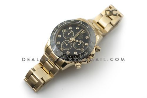 Daytona 116515 Black Dial with Yellow Gold Bracelet