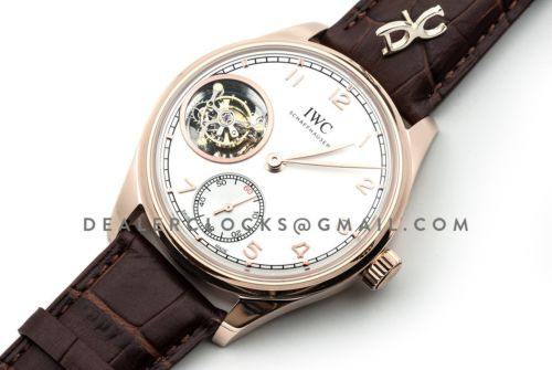 Portuguese Tourbillon Hand Wound IW546302 Silver Dial in Rose Gold