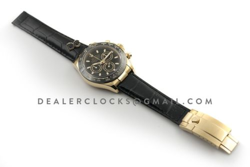 Daytona 116515 Black Dial in Yellow Gold