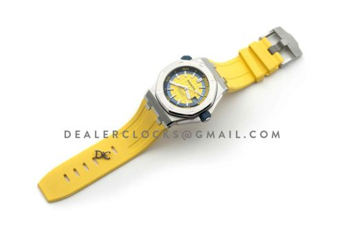 Royal Oak Offshore Diver Steel Yellow Dial 15710ST SIHH 2017
