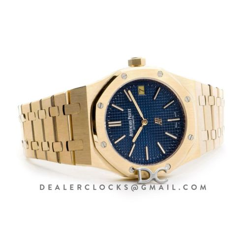Royal Oak 15202 18K Yellow Gold Blue Dial on Bracelet