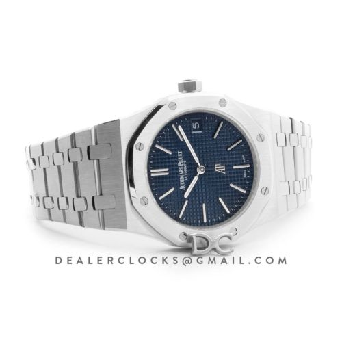 Royal Oak 15202 Stainless Steel Blue Dial on Bracelet