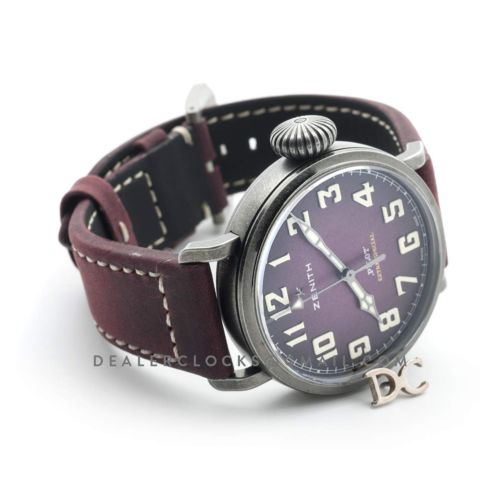 Pilot Type 20 Extra Special 40mm Burgundy Dial in Aged Steel