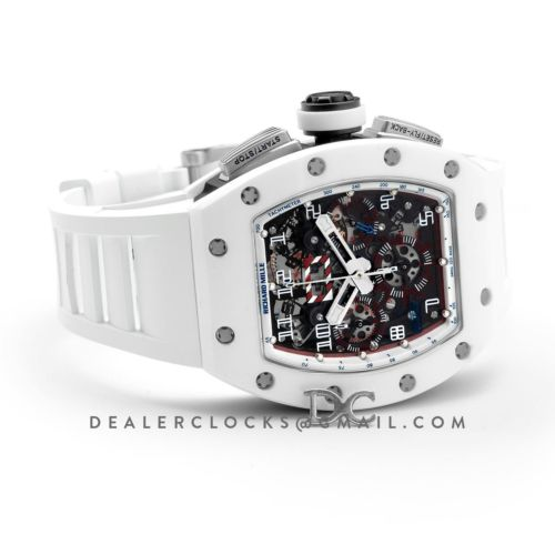 RM 011 Flyback Chronograph White Ceramic NTPT Asia Limited Edition