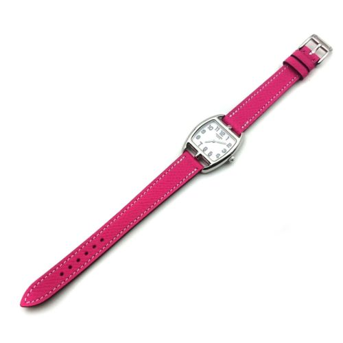 Cape Cod Tonneau Steel on Pink Epsom Leather Strap