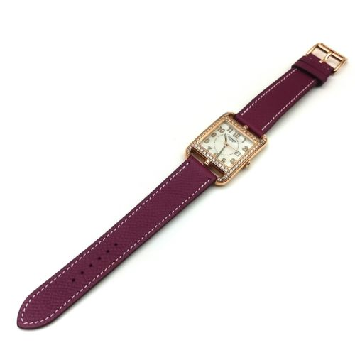 Cape Cod GM Quartz Rose Gold with Diamond Bezel on Violet Epsom Leather Strap