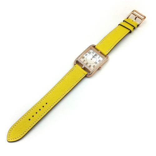 Cape Cod GM Quartz Rose Gold with Diamond Bezel on Yellow Epsom Leather Strap