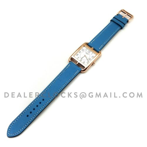Cape Cod GM Quartz Rose Gold on Light Blue Fjord Leather Strap