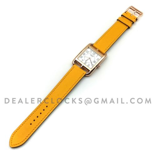 Cape Cod GM Quartz Rose Gold on Yellow Fjord Leather Strap