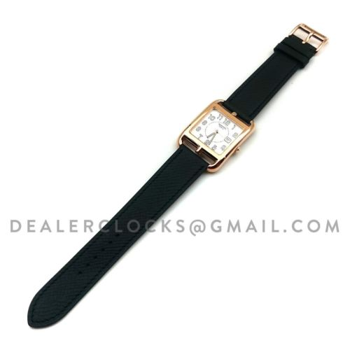 Cape Cod GM Quartz Rose Gold on Black Epsom Leather Strap