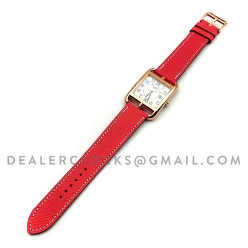 Cape Cod GM Quartz Rose Gold on Vermilion Epsom Leather Strap