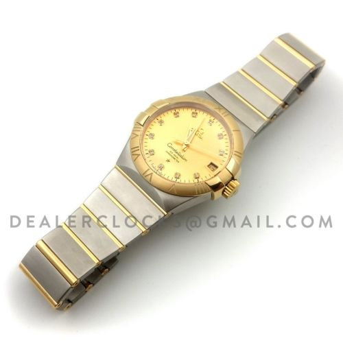 Constellation 38mm Gold Dial Bi Metal Yellow Gold