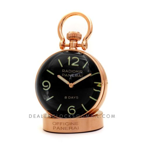 Pam 581 Table Clock 8 Days in Rose Gold