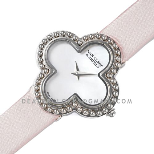 Alhambra Watch 30.2mm White Dial in Steel on Pink Strap
