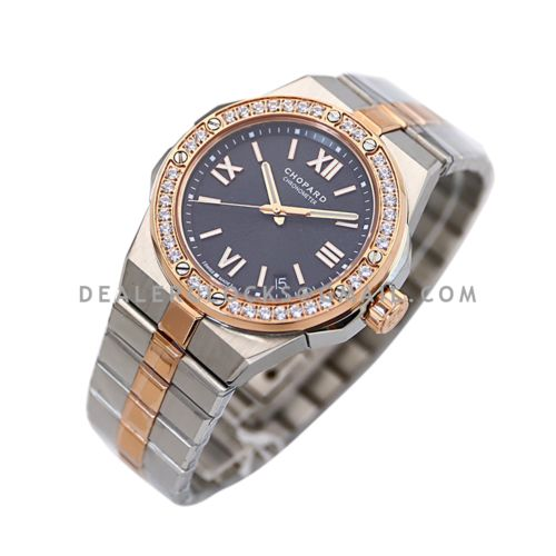 Alpine Eagle Large 41mm Blue Dial with Diamond Bezel in Steel/Rose Gold