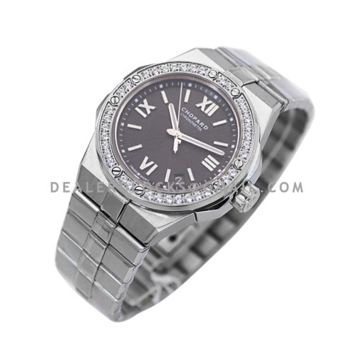 Alpine Eagle Large 41mm Grey Dial with Diamond Bezel in Steel