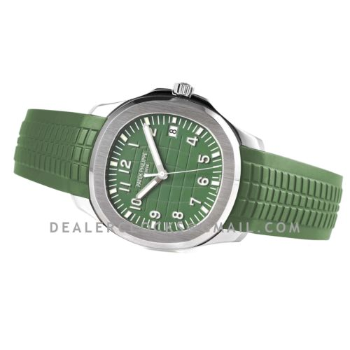 Aquanaut 5168G-010 Green Dial in White Gold