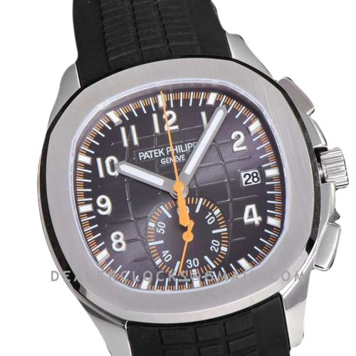 Aquanaut 5968A Grey Dial on Black Rubber Strap in Steel