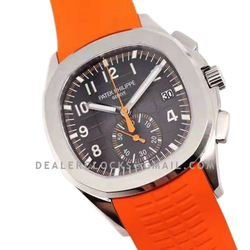Aquanaut 5968A Grey Dial on Orange Rubber Strap in Steel