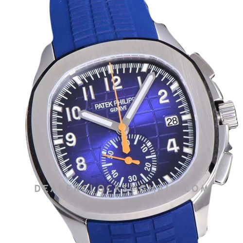 Aquanaut 5968G Grey Dial on Blue Rubber Strap in Steel