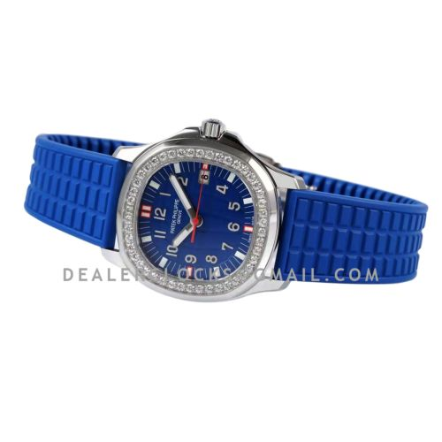 Aquanaut Luce 5067A-014 Blue Dial in Steel with Red Markers