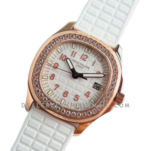 Aquanaut Luce 5068R-010 White Dial in 18K Rose Gold