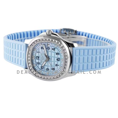 Aquanaut Luce 5072G-001 Blue MOP Dial in Grey Gold