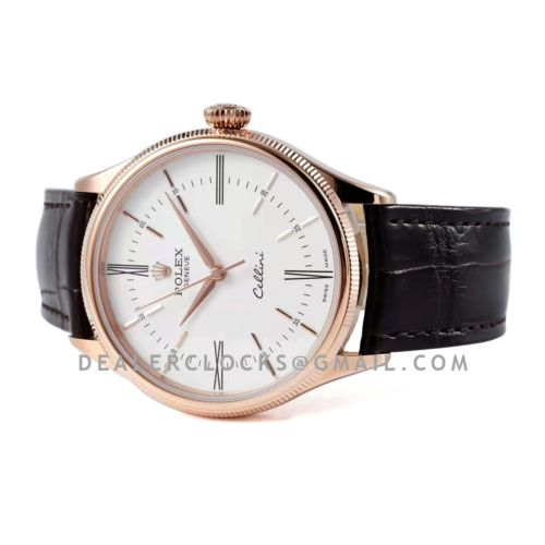 Cellini Time 50509 White Dial with Roman Marker in Rose Gold