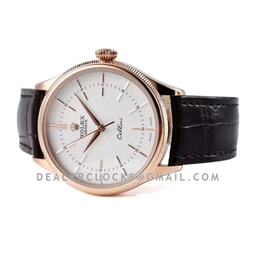 Cellini Time 50509 White Dial with Stick Marker in Rose Gold