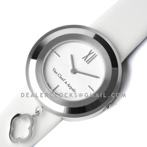 Charms Watch 32m White Dial in Steel on White Strap