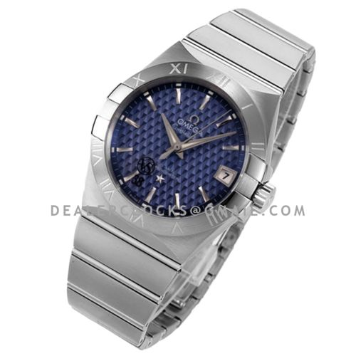 Constellation Co-Axial Chronometer 38mm Blue Texture Dial in Steel