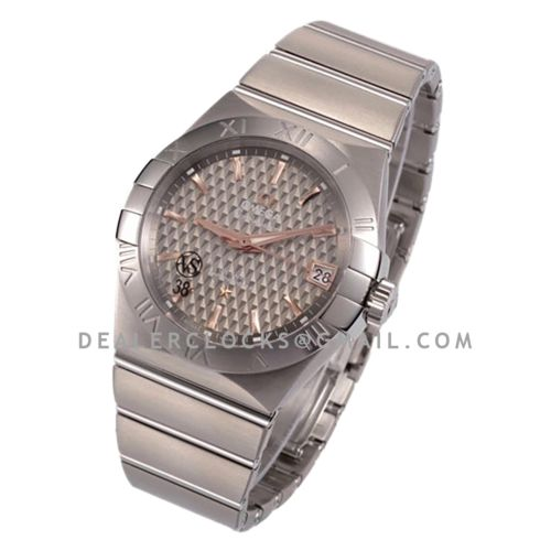 Constellation Co-Axial Chronometer 38mm Grey Texture Dial in Steel