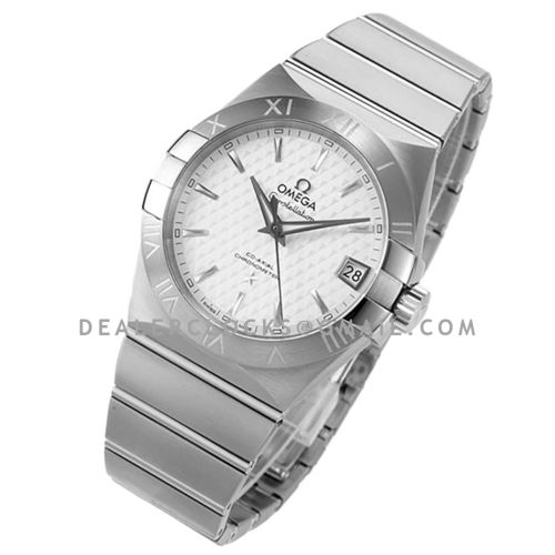 Constellation Co-Axial Chronometer 38mm White Texture Dial in Steel