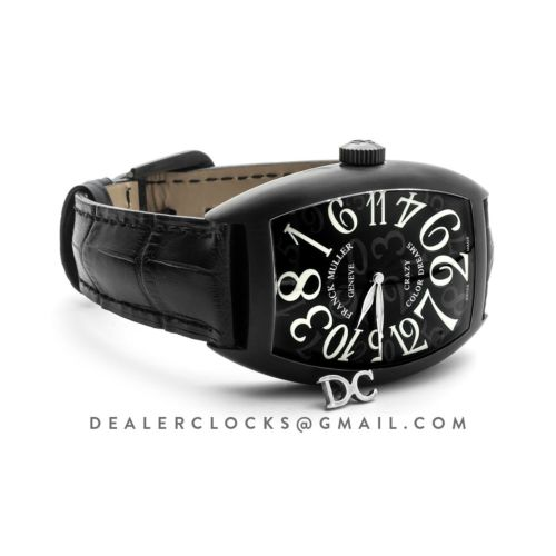 Crazy Hours Black Dial with White Markers in PVD