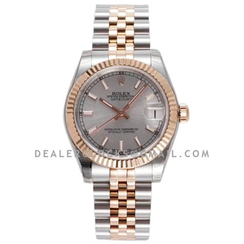 Datejust 31 278271 Silver Dial Diamond Markers in Everose Gold/Steel