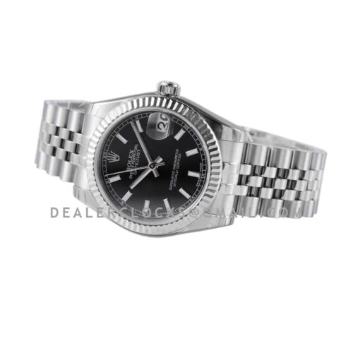 Datejust 31 278274 Black Dial Stick Markers in Steel