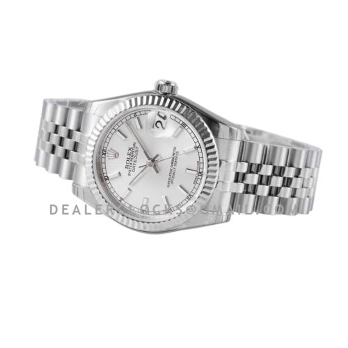 Datejust 31 278274 Silver Dial Stick Markers in Steel