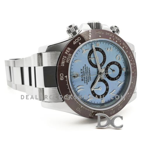 Daytona 116506 Ice Blue Dial in Platinum with Arabic Markers