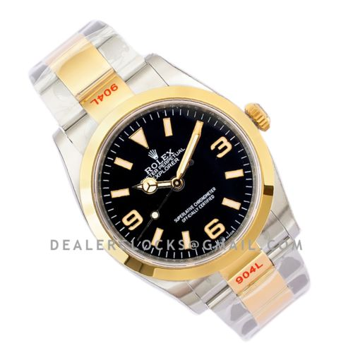 Explorer I 36mm 1242703 Black Dial in Steel/Yellow Gold