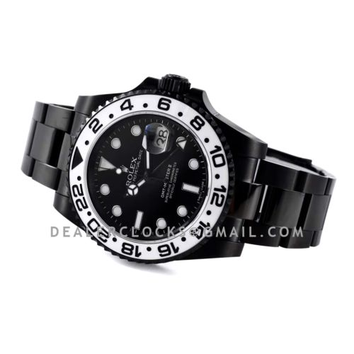 """GMT Master II 116710 """"Oreo"""" Black Dial in PVD"""