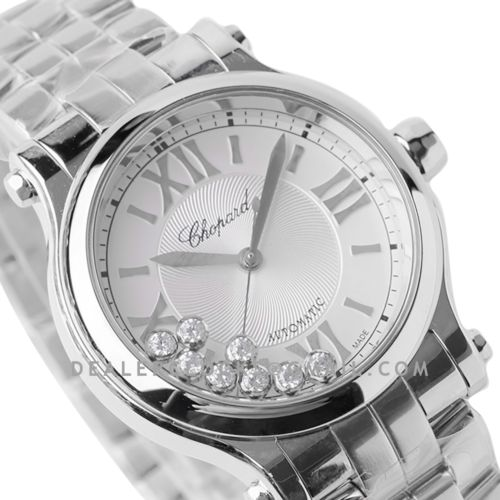 Happy Sport Automatic 33mm White Dial in Steel